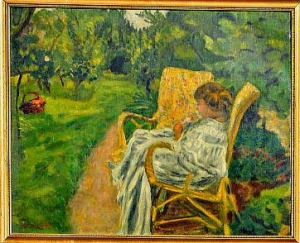 Bonnard woman with two armchairs
