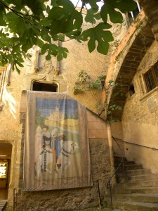 Gala Dali Castle Entrance Courtyard. *