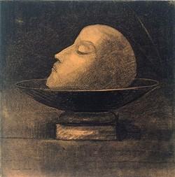 Odilon Redon - Head of Martyr placed on a cut, 1877 Kröller-Müller Museum, Otterlo