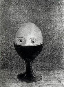 Odilon Redon - The egg, 1885, National Museum, Belgrade